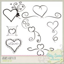 Doodles Hearts by Pathy Design