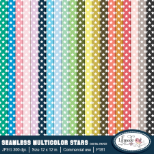 Seamless star patterns, digital paper