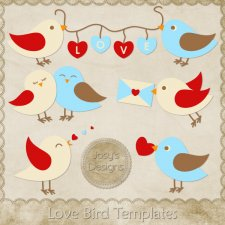 Love Bird Layered Templates by Josy