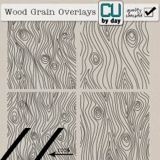 Wood Grain Overlays - CUbyDay EXCLUSIVE