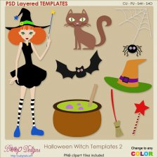 Halloween Witch Layered TEMPLATES 2