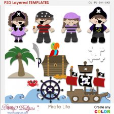 Pirate Life Layered Element Templates