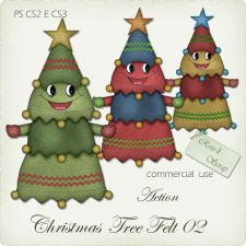 Action - Christmas Tree Felt II by Rose.li