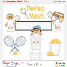 Tennis Time Layered Element Templates