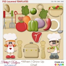 When I Grow Up Chef Layered Element Templates