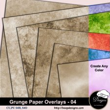 Grunge Paper Overlays 04 by Boop Designs