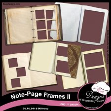 Note Page Frames II by Boop Designs