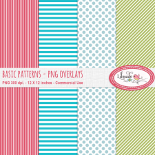 Basic Patterns PNG overlays paper templates Lilmade Designs