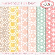 Shabby lace overlays Lilmade Designs