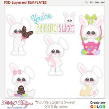 You're Eggstra Sweet Bunny Easter Layered Element Templates