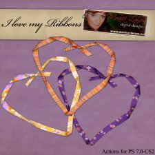 I love ribbons ACTION by Monica Larsen