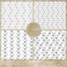 Layered Paper TEMPLATES 38 by Josy