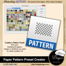 Pattern PRESET Creator ACTION by Boop Designs