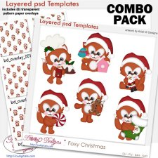 Foxy Christmas Layered Template COMBO Set