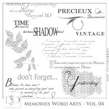 Memories Word Arts Vol 04 by D's Design