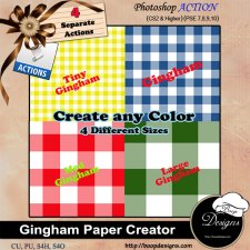 Gingham Paper Creator ACTION by Boop Designs
