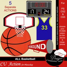 Basketball PS ACTION by Boop Designs