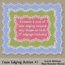 Lace Edgings Actions #1 by Karen Stimson