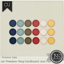 Let Freedom Ring Cardboard and Felt PS Styles by Just So Scrappy
