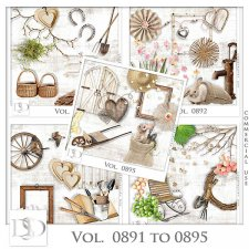 Vol. 0891 to 0895 Spring Nature Mix by D's Design