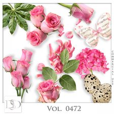 Vol. 0472 Roses Nature Mix by D's Design