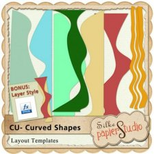 Curved Shapes 1 by PapierStudio Silke
