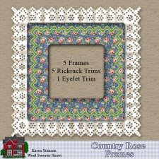 Country Rose Frames by Karen Stimson