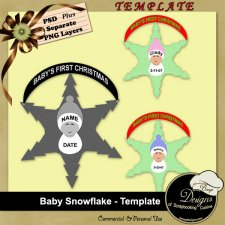 Baby Snowflake TEMPLATE by Boop Designs