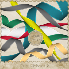 Curly Ribbons 1 Layered Templates by Josy