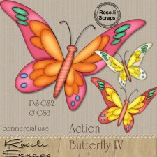 Action - Butterfly IV by Rose.li