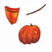 EXCLUSIVE Pumpkins Watercolour by Silver Splashes