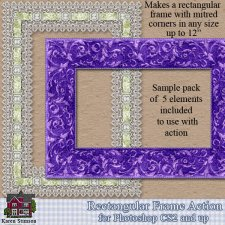 Rectangular Frame Action by Karen Stimson