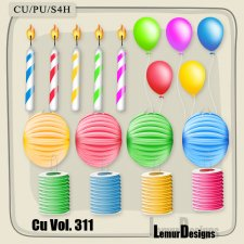 CU Vol 311 Party Cliparts 1 by Lemur Designs