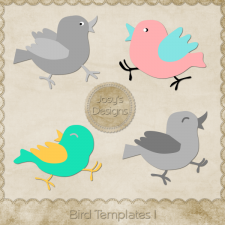 Bird Layered Templates 1 by Josy