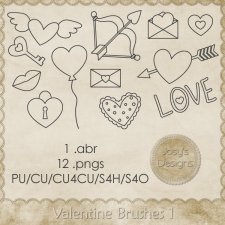 Valentine Doodle Brushes 1 by Josy