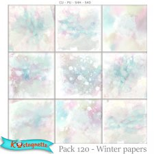 EXSCLUSIVE pack 120 Winter papers by Kastagnette
