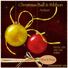 Action - Christmas Ball & Ribbon by Rose.li