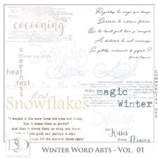 Winter Word Arts Vol 01 by D's Design