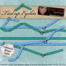 Tied up Eyelet Action by Monica Larsen