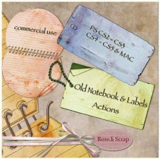 Action - Old Notebook & Label by Rose.li