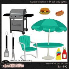 EXCLUSIVE Layered Bar-B-Q Templates by NewE Designz