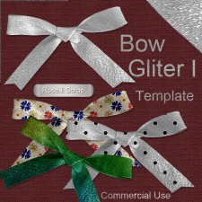 Bow Glitter TEMPLATE by Rose.li