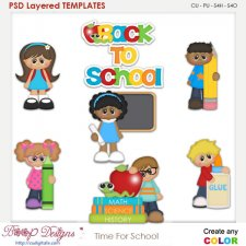 Time For Back to School Element Templates