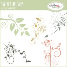 Swirly Florals Photoshop Brushes Lilmade Designs