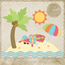 Beach Break Layered Vector Templates by Josy