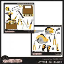 EXCLUSIVE Layered Tool Set Templates BUNDLE by NewE Designz