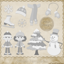 Winter Layered Templates 1 by Josy