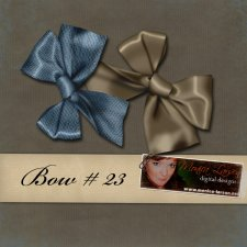Satin Bow - action by Monica Larsen