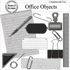 Office Element Objects by Rose.li