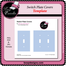 Switch Plate Covers TEMPLATE by Boop Printable Designs